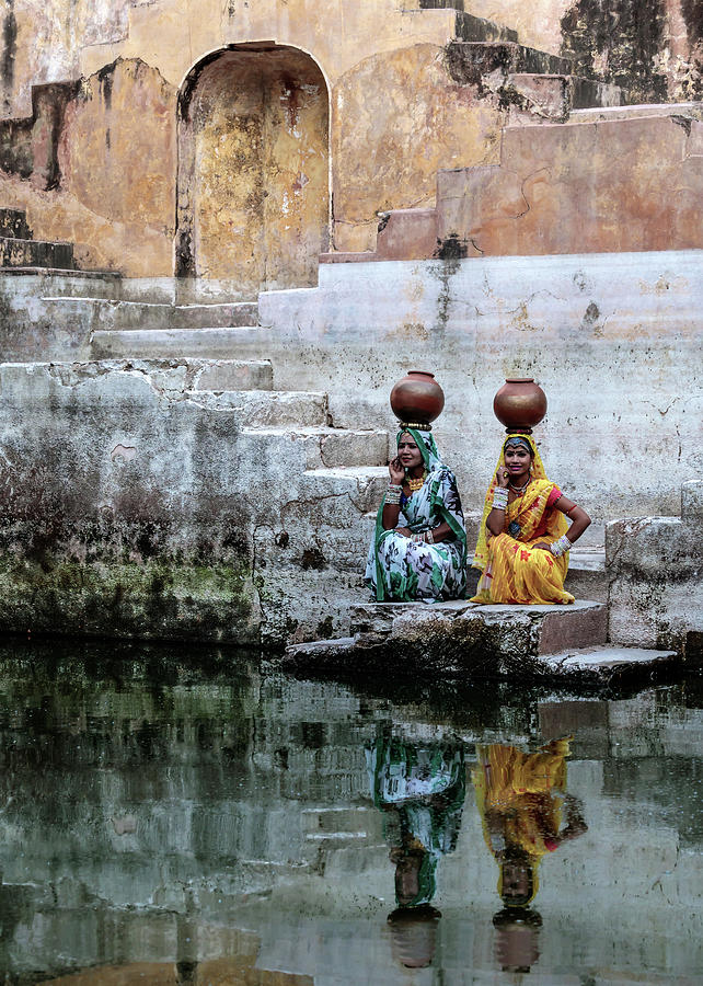 Stepwell Photograph - Stepwell Reflections by Susan Moss