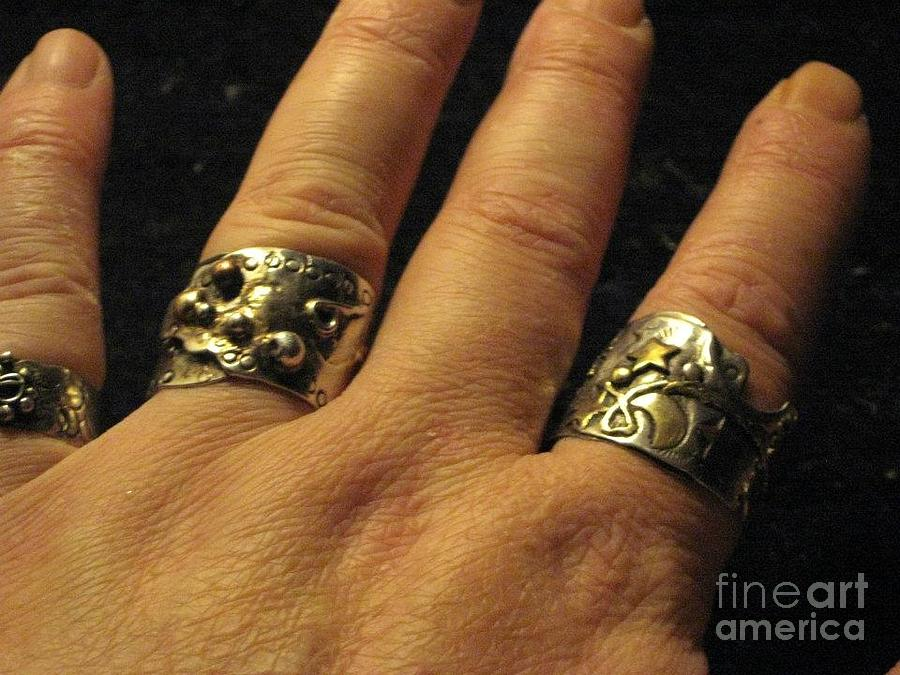 Picasso Jewelry - Sterling Silver Gold Mixed Metal Art Jewelry by Lois Picasso