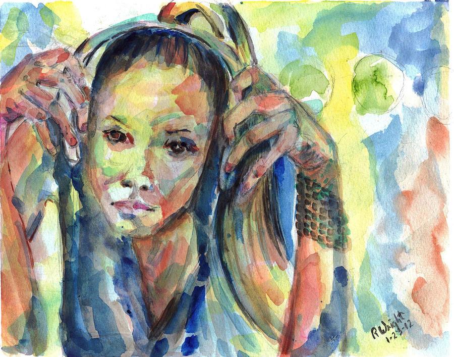 Girl Painting - Sterlz by Ramona Wright