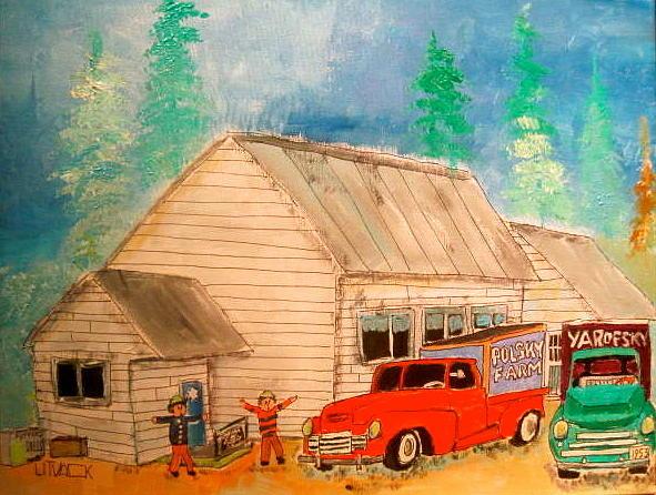Jewish Farmers Painting - Ste.sophies Farmers Montreal Memories by Michael Litvack