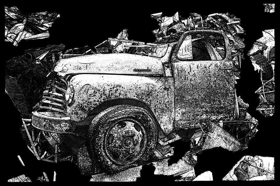 Abstract Artwork Photograph - Steudebaker Truck by Linda Fowler