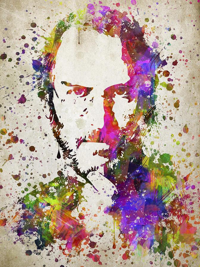 Steve Jobs Portrait Digital Art - Steve Jobs In Color by Aged Pixel