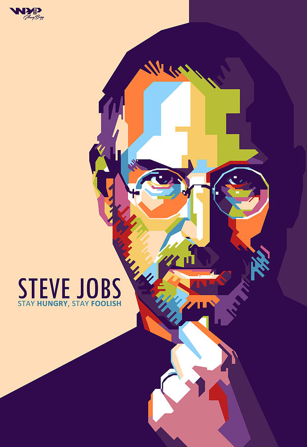 Steve Jobs In Wpap Digital Art By Gilang Bogy