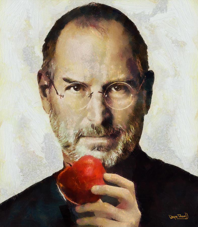 Steve Jobs Painting - Steve Jobs  by Wayne Pascall