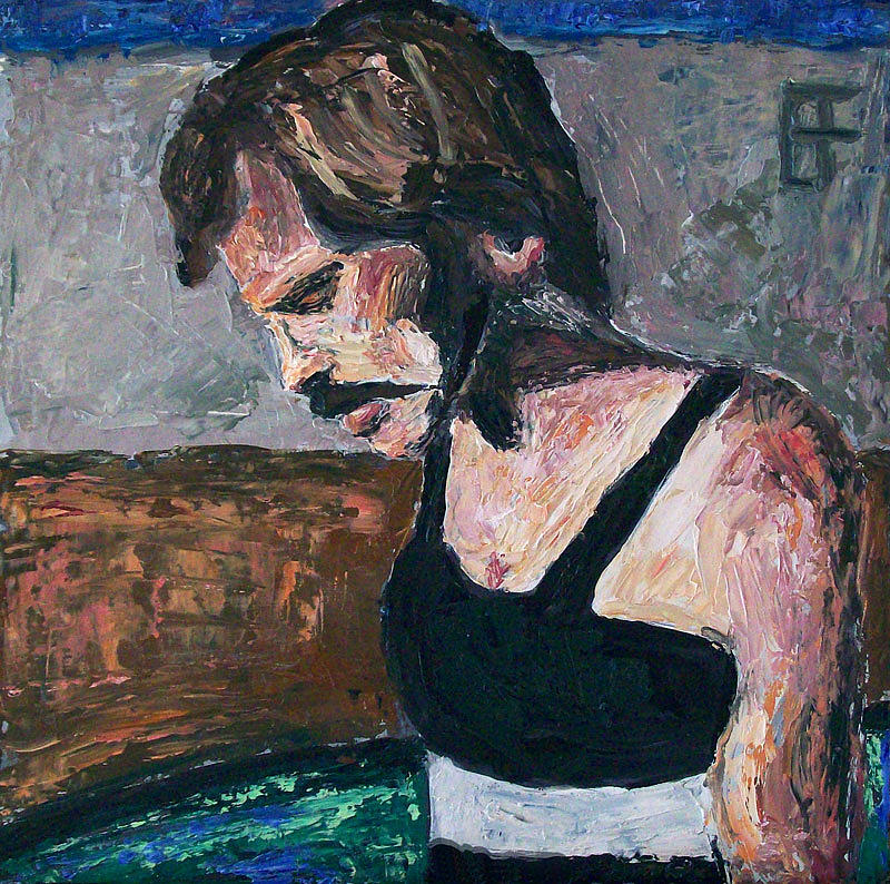 Acrylic Painting - Steve Prefontaine by Allen Forrest
