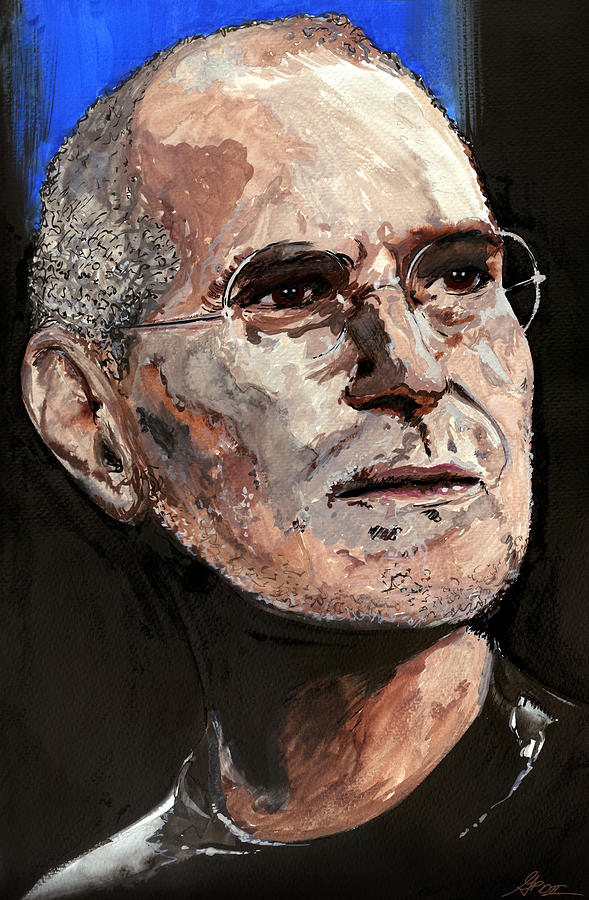 Steve Painting - Steven Paul Jobs by Gordon Dean II