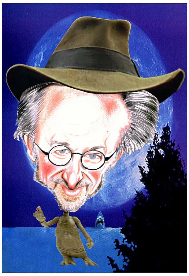 Movies Drawing - Steven Spielberg by Diego Abelenda