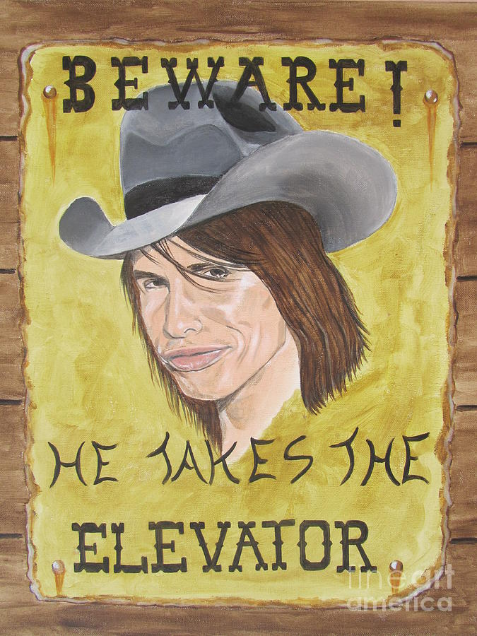 Steven Tyler Painting - Steven Tyler As A Cowboy by Jeepee Aero