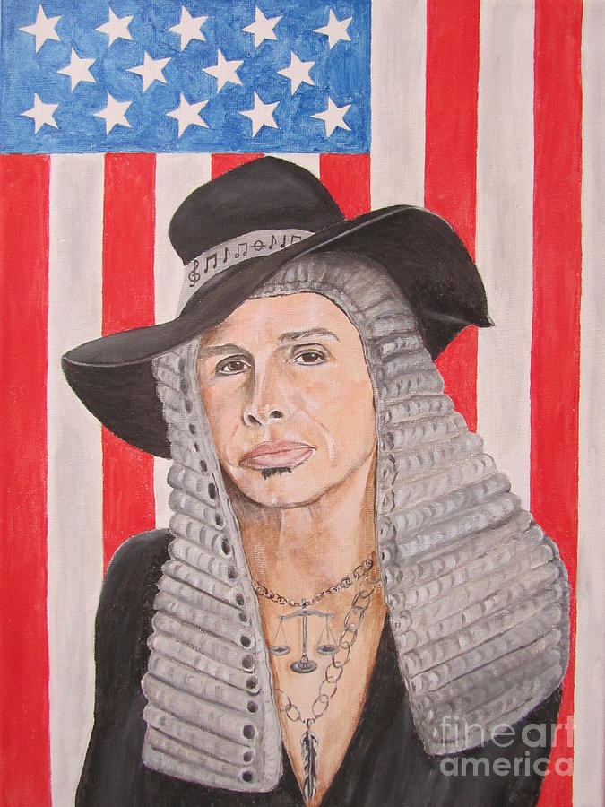 Steven Tyler Painting - Steven Tyler As A Judge Painting by Jeepee Aero