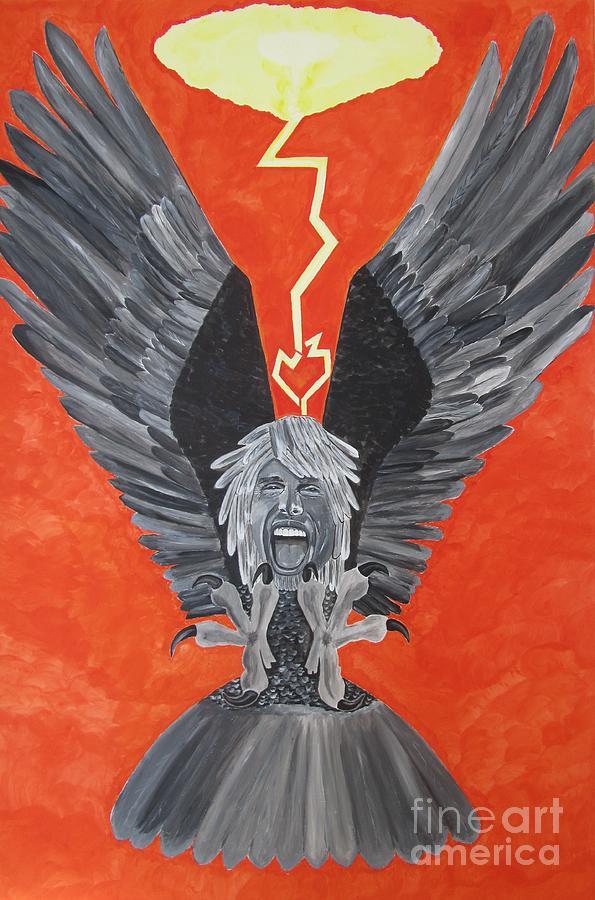 Steven Tyler Painting - Steven Tyler As An Eagle by Jeepee Aero