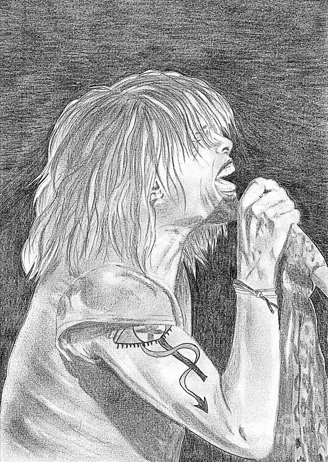 Steven Tyler Drawing - Steven Tyler Concert Drawing by Jeepee Aero
