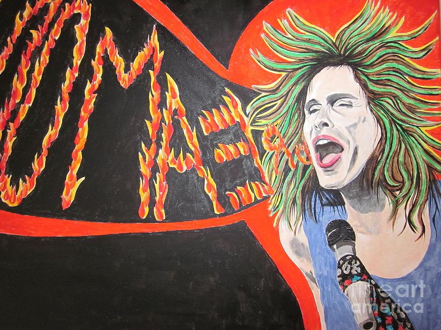 Steven Tyler  Painting - Steven Tyler Dream On by Jeepee Aero