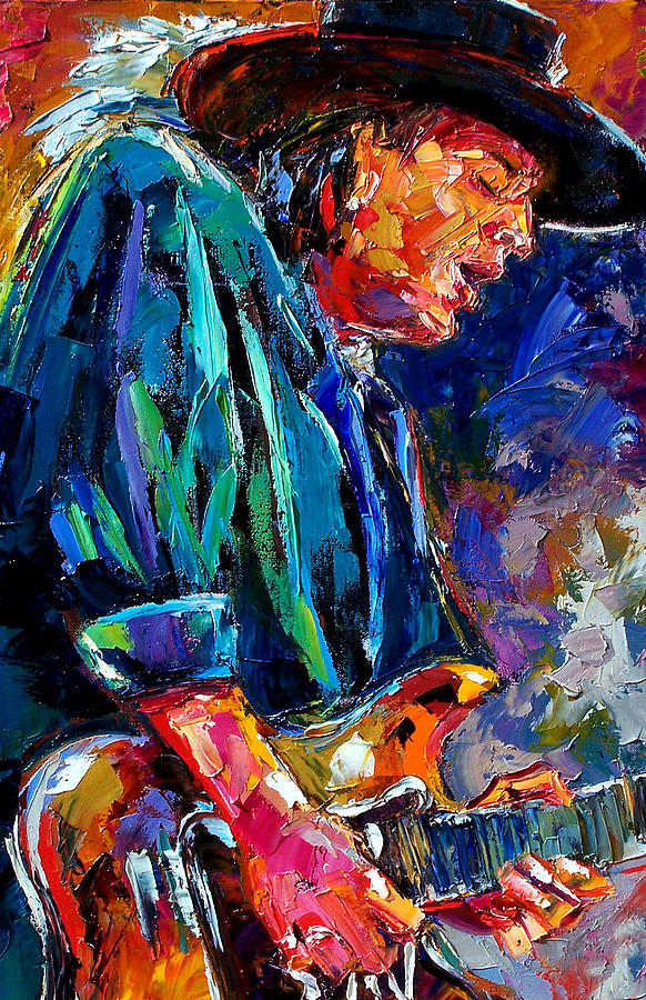 Stevie Ray Vaughn Painting - Stevie Ray... by Debra Hurd