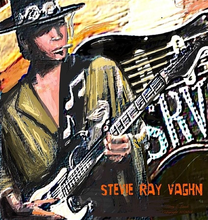 Blues Painting - Stevie Ray Vaghn by Larry E Lamb