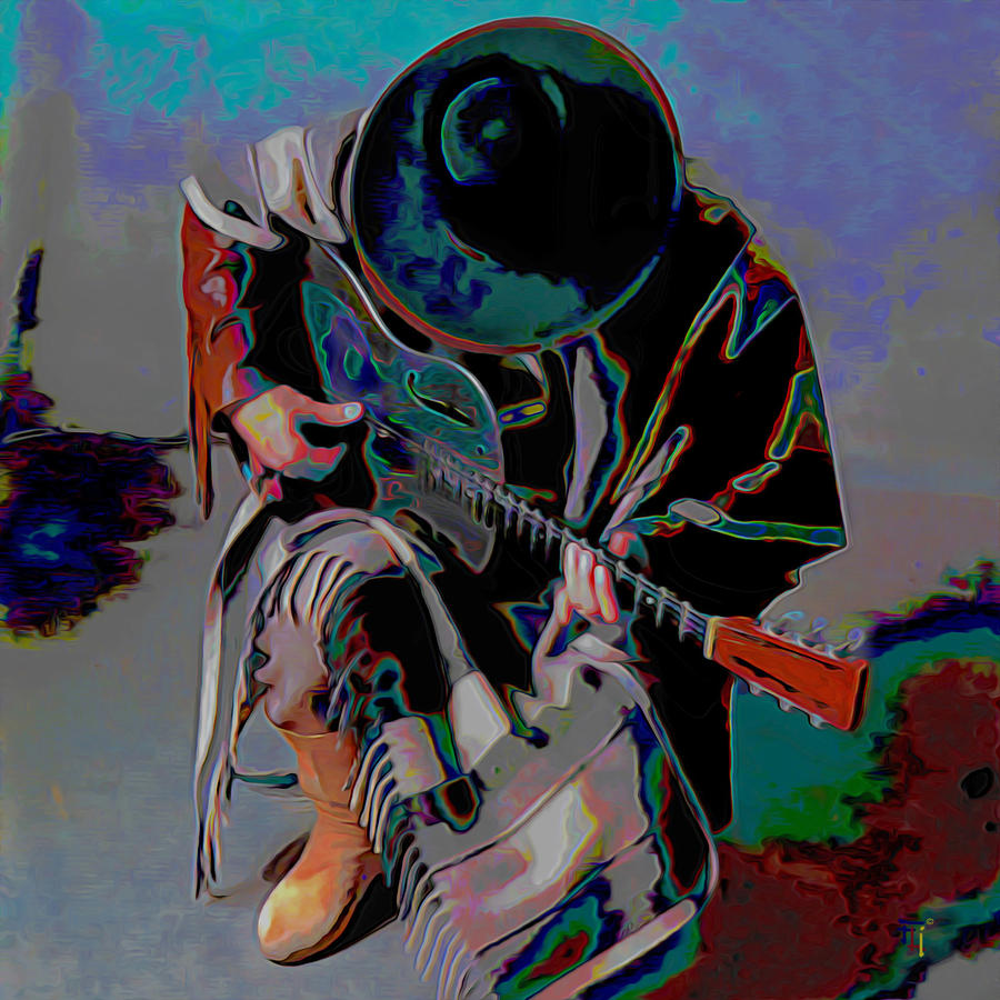 Stevie Ray Vaughan Painting - Stevie Ray Vaughan Srv by Fli Art