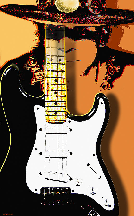 Music Digital Art - Stevie Ray Vaughan by Larry Butterworth