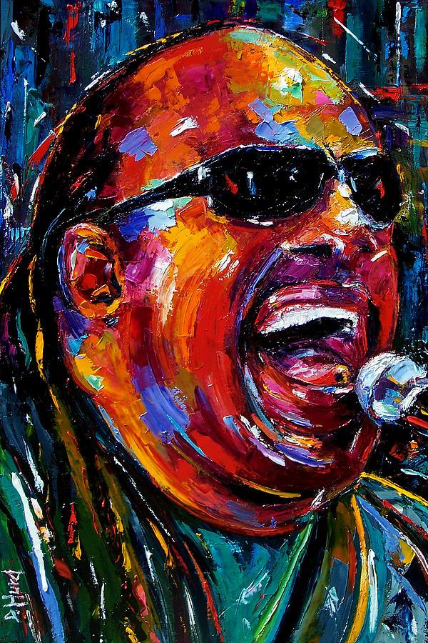 Stevie Wonder Painting - Stevie Wonder by Debra Hurd