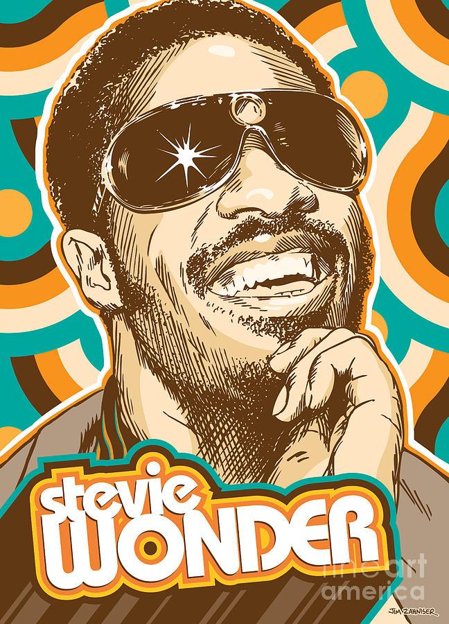 Excellent Stevie Wonder Pop Art Digital Art by Jim Zahniser VO57