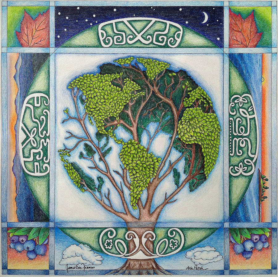 Stewardship Of The Earth Drawing - Stewardship Of The Earth by Arla Patch