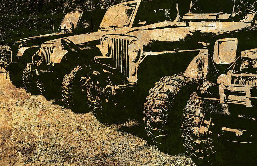 Jeep Photograph - Sticks And Stones ... Wont Break My Bones by Luke Moore