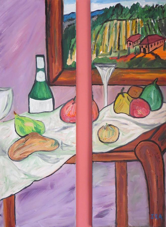 Stil Llife A Vin Painting by Ira Stark