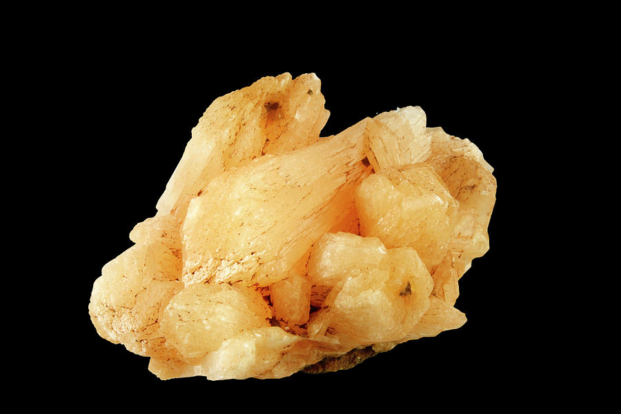 Stilbite Photograph - Stilbite by Science Stock Photography