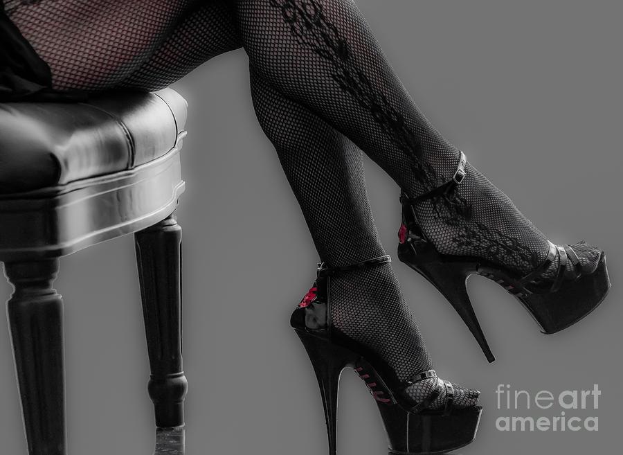 Legs Photograph - Stilettos by Bianca Nadeau