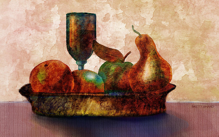Still fife - fruit and glass by Brett Shand
