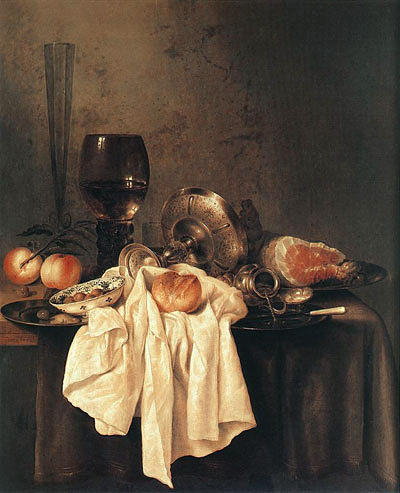 Painting Reproduction Painting - Still-life 1651 by Willem Claesz Heda
