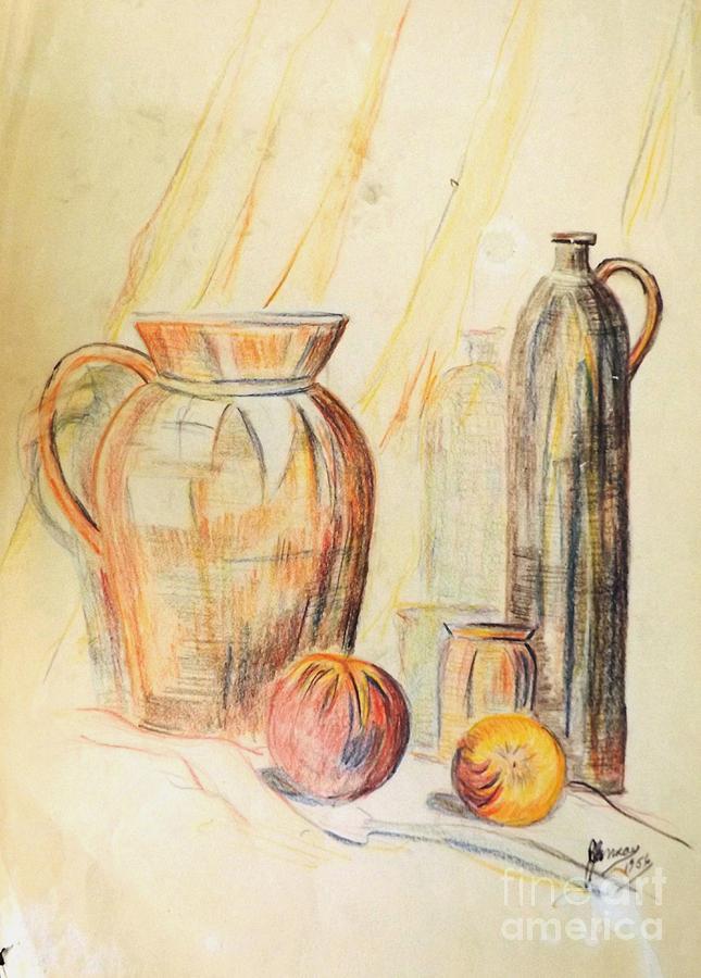 Still Life 1955 Drawing