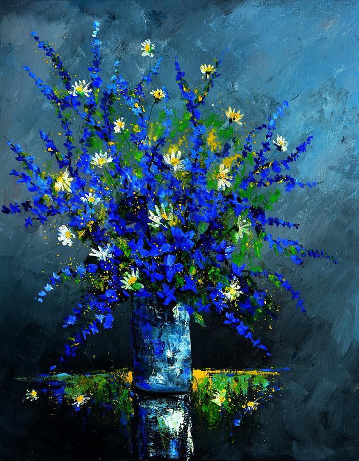 Flowers Painting - Still life 675130 by Pol Ledent