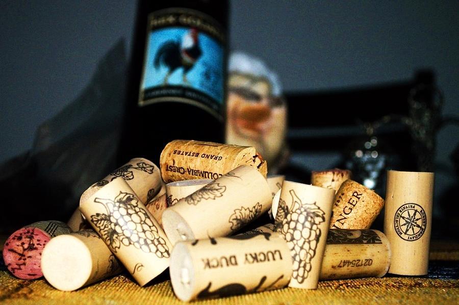 Wine Photograph - Still Life Corks by Steve La Motte
