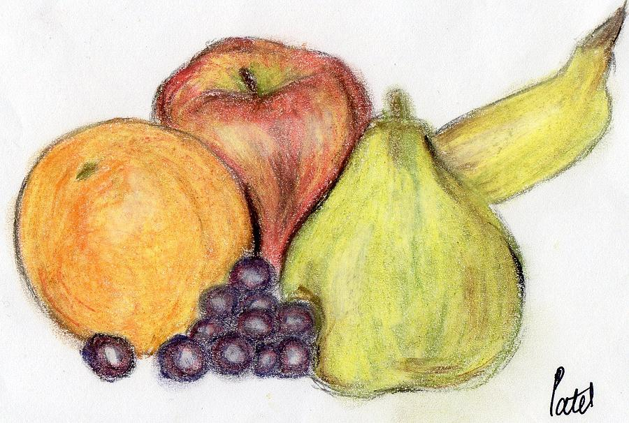 Soft Pastels Drawing - Still Life - Fruit by Bav Patel