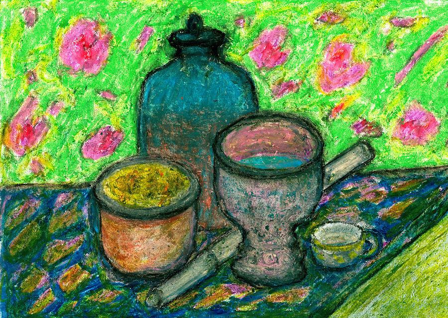 Meditation Pastel - Still-life In Meditation by Yuri Lushnichenko