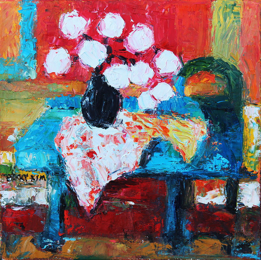 Oil Painting - Still Life In Studio 1 by Becky Kim