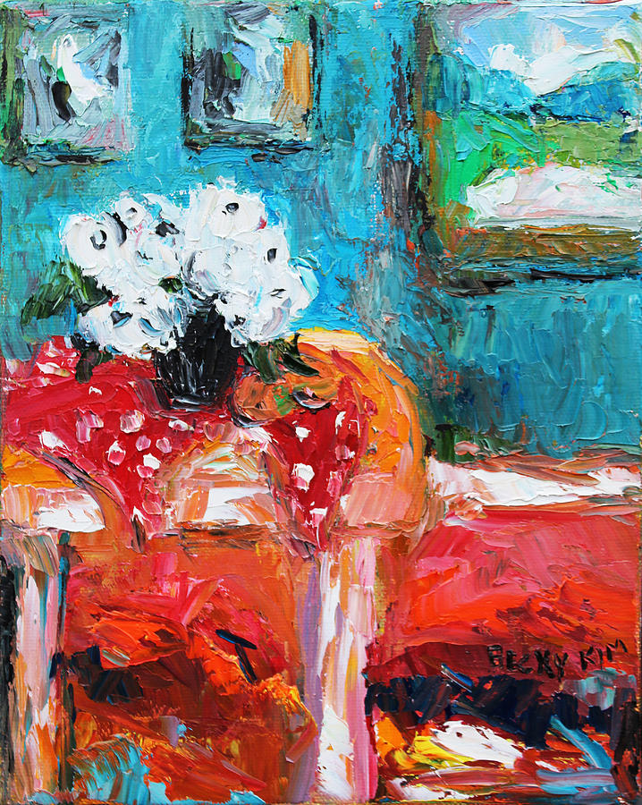 Oil Painting - Still Life In Studio 3 by Becky Kim