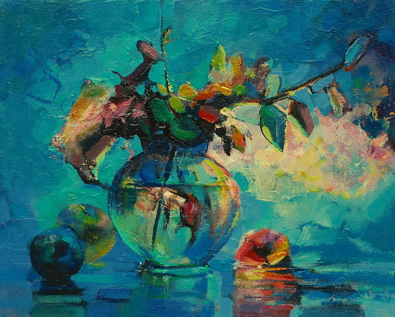 Blue Painting - Still Life by Ivan Tanev