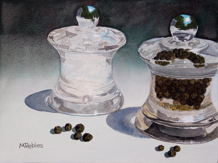 Pepper Corns Painting - Still Life No. 4 by Mike Robles