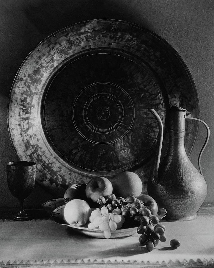 Still Life Of Armenian Plate And Other Photograph by Joseph B. Wurtz