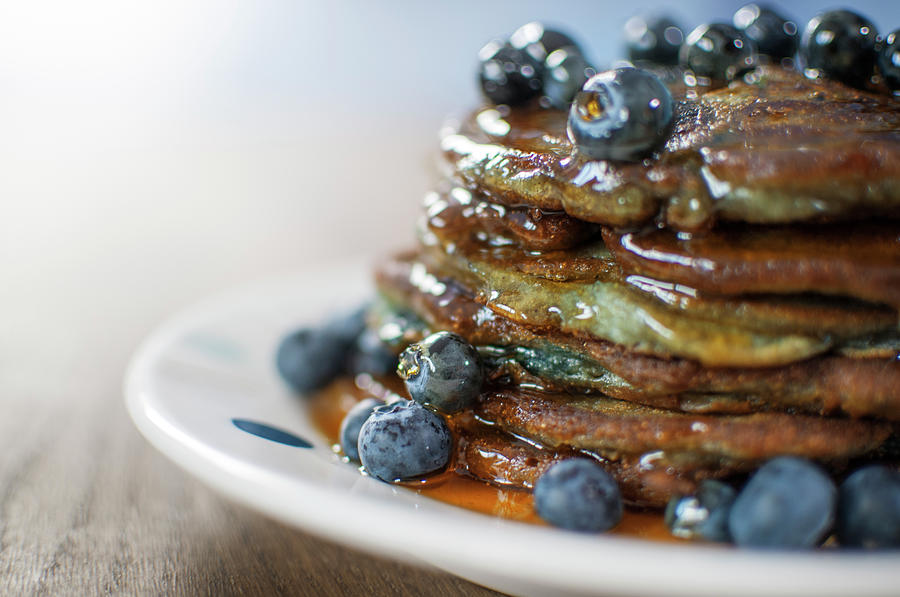 Still Life Of Blueberry Pancakes With Photograph by Matt Walford