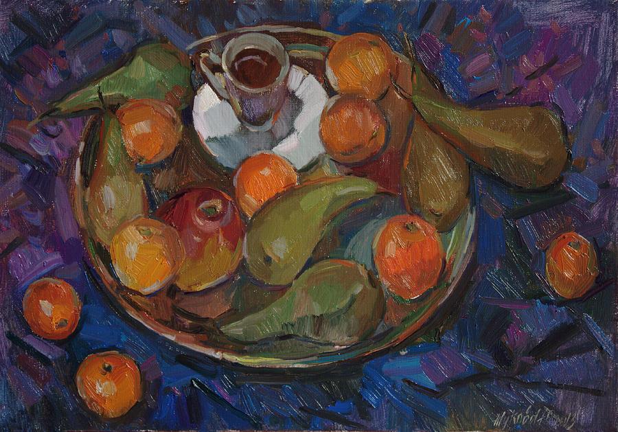 Still Life Painting - Still Life On A Tray by Juliya Zhukova