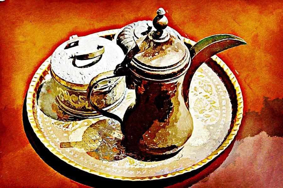 Arabic Coffee Digital Art - Coffee Time by Peter Waters