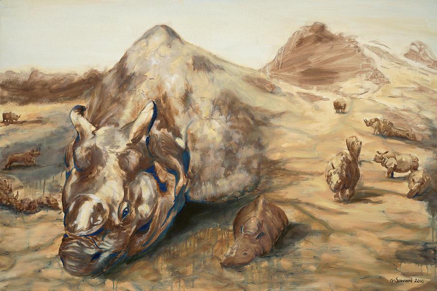 Rhino Painting - Still Life by Sarah Soward