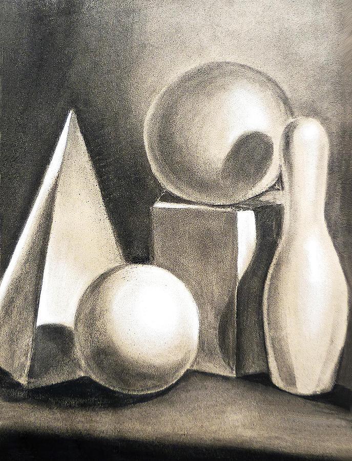 Still Drawing - Still Life Study Of Forms by Irina Sztukowski