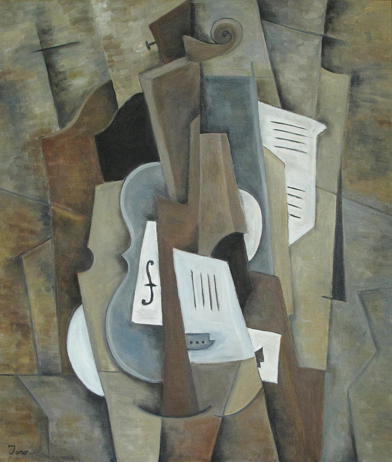 Cubism Painting - Still Life With Ace Of Spades by Trish Toro