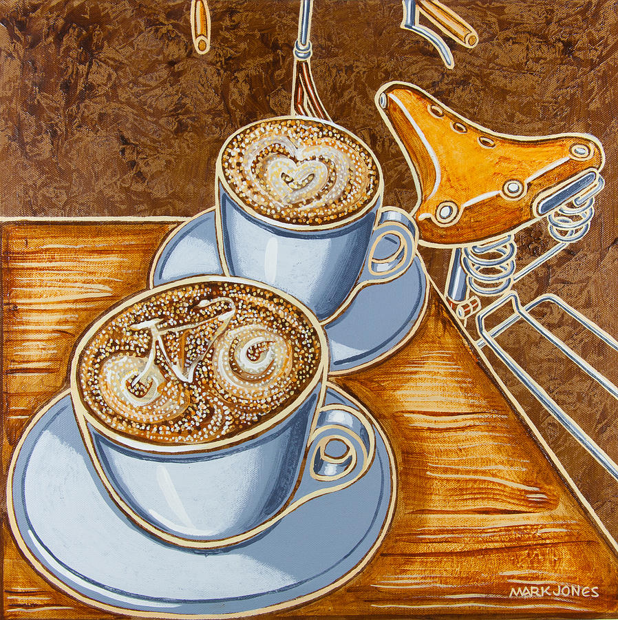 Still Life Painting - Still Life With Bicycle by Mark Howard Jones
