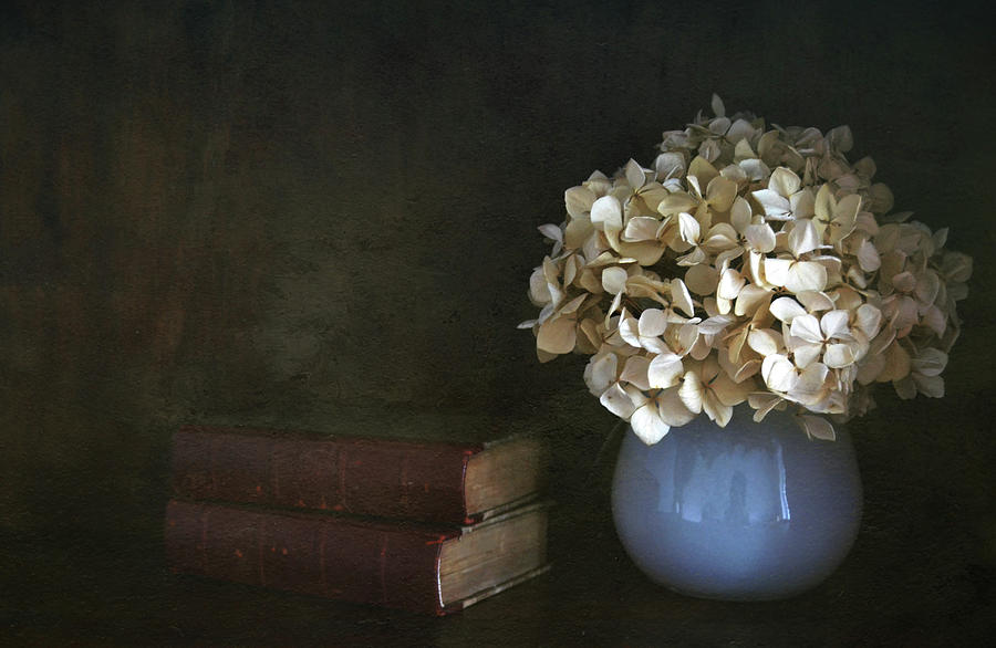 Still Life With Books And Flowers Photograph by Natalia Crespo