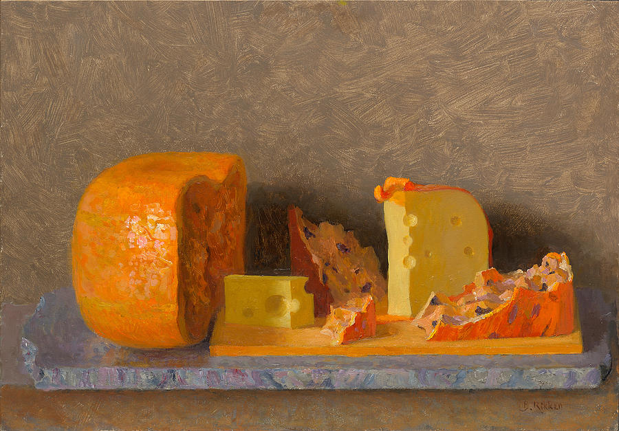 Cheese Painting - Still Life With Cheese by Ben Rikken