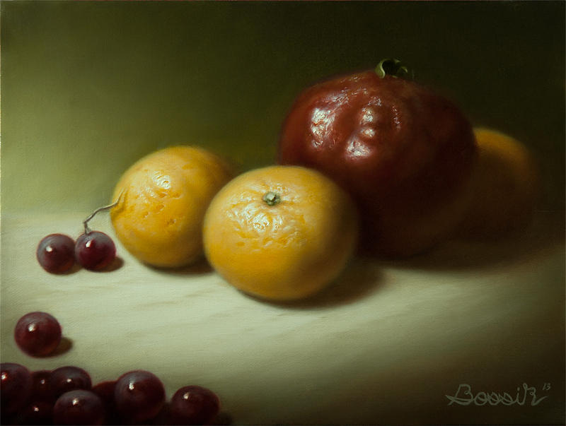 Still Life Painting - Still Life with Clementines by Eric Bossik