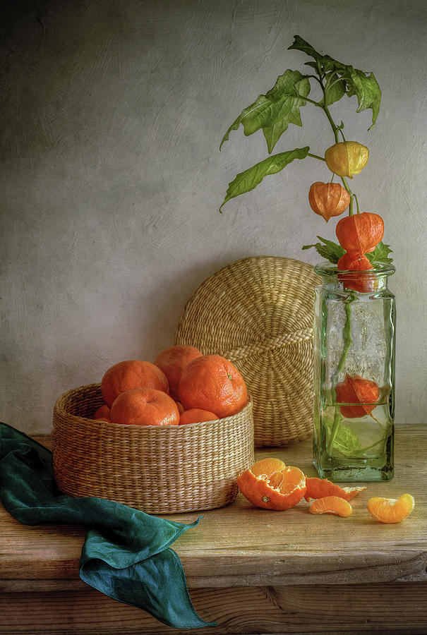 Oranges Photograph - Still Life With Clementines by Mandy Disher